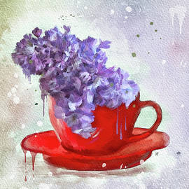 Cup of Lilacs by Mary Timman