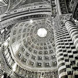 Cupola of Siena's Cathedral in Black and White by Ramona Matei