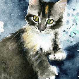 Curious Kitten Painting by Dora Hathazi Mendes