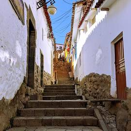 Cusco Stairway by Julie Pacheco-Toye