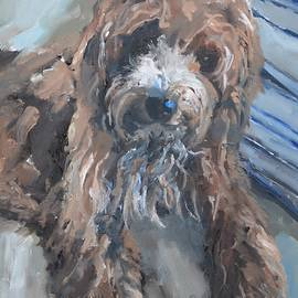 Cute Cockapoo Painting by Donna Tuten
