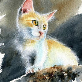 Cute Kitten Painting by Dora Hathazi Mendes