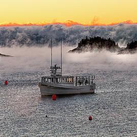 Cutler Harbor Sea Smoke 2 by Marty Saccone