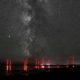 Cutler Towers and Milky Way by Marty Saccone