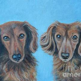 Dachshund Duo by Tricia Lesky