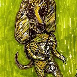 Dachshund Living His Best Life In Margaritaville by Geraldine Myszenski