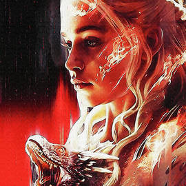 Daenerys Targaryen and Dragon by Gunawan RB