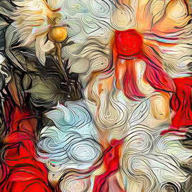 Dahlia Abstract by Teresa Wilson