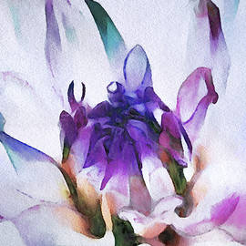 Dahlia in Watercolor by Susan Maxwell Schmidt