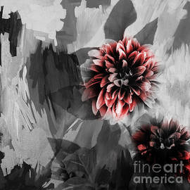 Dahlia pair abstract art by Gull G