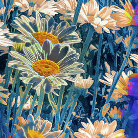 Daisies in the garden by Cordia Murphy