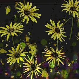 Daisy Chain Drips Drops Splatter by Joan Stratton