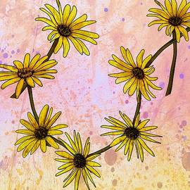 Daisy Chain Rustic Drips by Joan Stratton