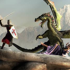 Damsel, Dragon, and Knight by Daniel Eskridge