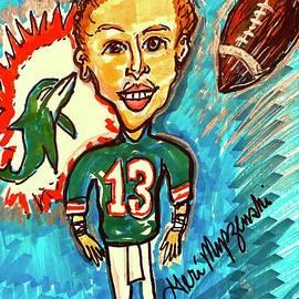 Dan Marino Miami Dolphins by Geraldine Myszenski