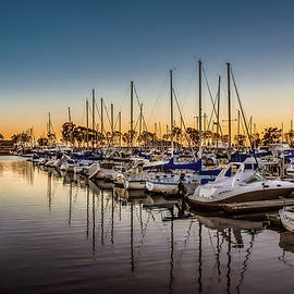 Dana Point Harbor at the Blue Hour by Rebecca Herranen