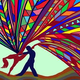 Dancing Rainbow Tree Couple by Chante Moody