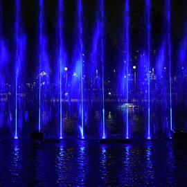Dancing Waters of Tammerekoski 2020  number 6 The Blue wall by Jouko Lehto