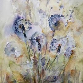 Dandelions watercolor by Agnieszka Kowalska Rustica