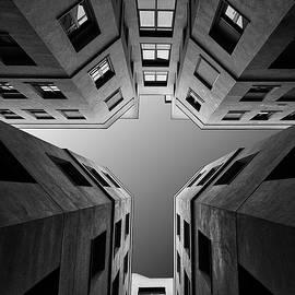 Dark City Monochrome  by Arro FineArt