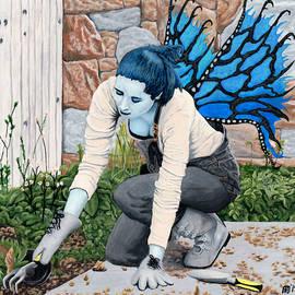 Dark Fairy Garden Fantasy by Ted Helms