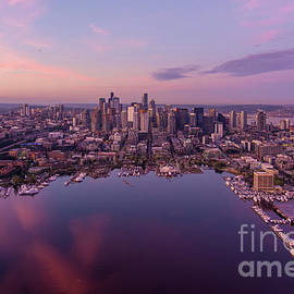 Dawn Above the Seattle Skyline by Mike Reid