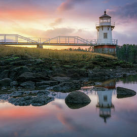 Dawn at Doubling Point Lighthouse by Kristen Wilkinson
