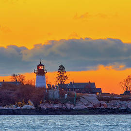 Dawn at Ten Pound Island Lighthouse  by Juergen Roth