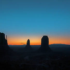Dawn in Monument Valley by John Bartelt