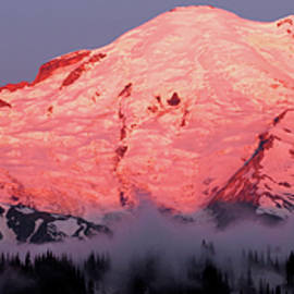 Dawn Panorama, Mount Rainier by Douglas Taylor
