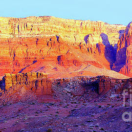 Dawn, Vermillion Cliffs And Cathedral Canyon Panorama by Douglas Taylor