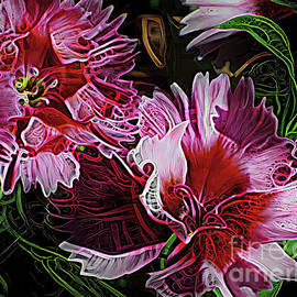 Dazzling Dianthus  by Trudee Hunter