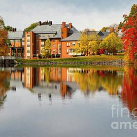 Dazzling Fall Colors Mount Holyoke College South Hadley Massachusetts by Wayne Moran