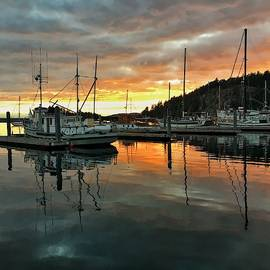 Deer Harbor Sunset by Jerry Abbott
