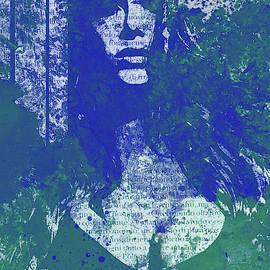 Degradation Trip II - blue graffiti sexy woman shadow by Marco Paludet