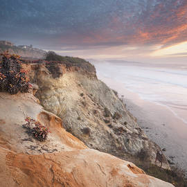 Del Mar Cliffs Sunset Two by William Dunigan