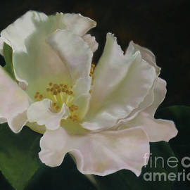 Delicate Floral - Pastel painting by Alison A Murphy