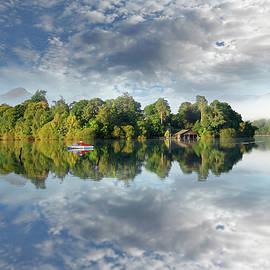 Derwent Isle Reflections on Derwentwater  by Martin Lawrence
