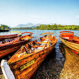 Derwentwater Wooden Rowing Boat by Paul Thompson