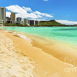 Deserted Waikiki Beach During COVID Lockdown by Phillip Espinasse