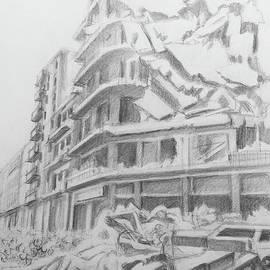 Destroyed modern buildings - Aleppo by Mohammad Hayssam Kattaa