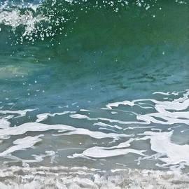 Detail of a Green Wave by Ellen Paull