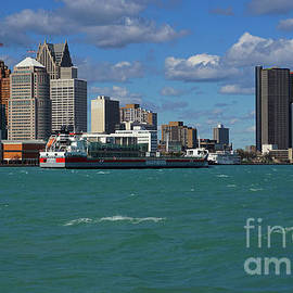 Detroit on the River Blue by Jane Tomlin