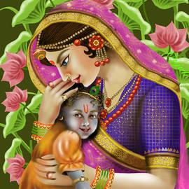 Devaki Nandan Krishna Indian art by Anjali Swami