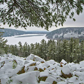 Devil's Lake South Bluff in Winter by Chris Pappathopoulos