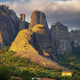 Devils Tower in Meteora, Greece by IC Papachristos