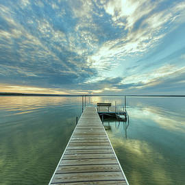 Dewitt's Landing Lakescape by Ron Wiltse