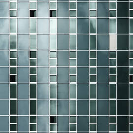 Cloudy Reflections on Green Windows by Arro FineArt