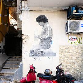 Diego Maradona Mural in Naples, Italy by Yaroslav Kalinin