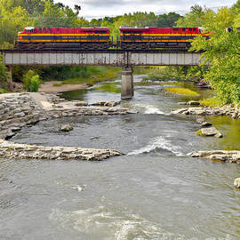 Diesels Over Whitewater by Linda Brittain